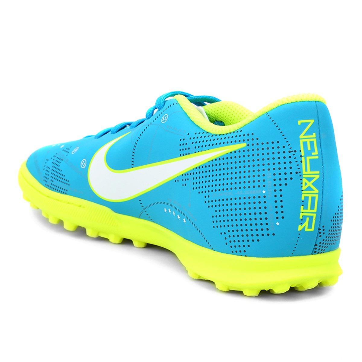48268e6171 Chuteira Society Nike Mercurial Vortex 3 Neymar Jr TF - Azul e ...