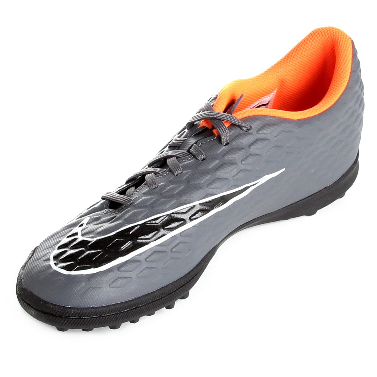 Cinza e Laranja Society Nike Chuteira TF Club Phantom Masculina 3 aOxwq