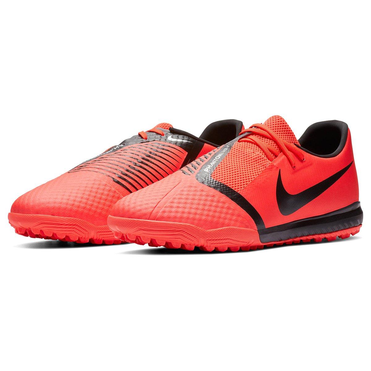 Chuteira Society Nike Phantom Venom Academy TF - Vermelho e Preto ... 32cb8d963dd5c