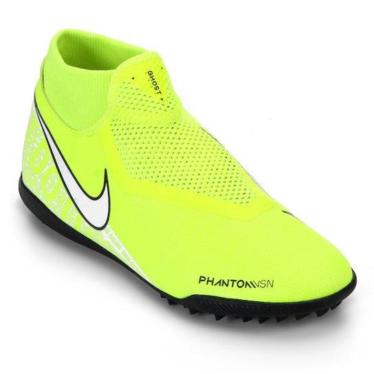 Menor preço em Chuteira Society Nike Phantom Vision Academy DF TF - Verde Limão e Cinza
