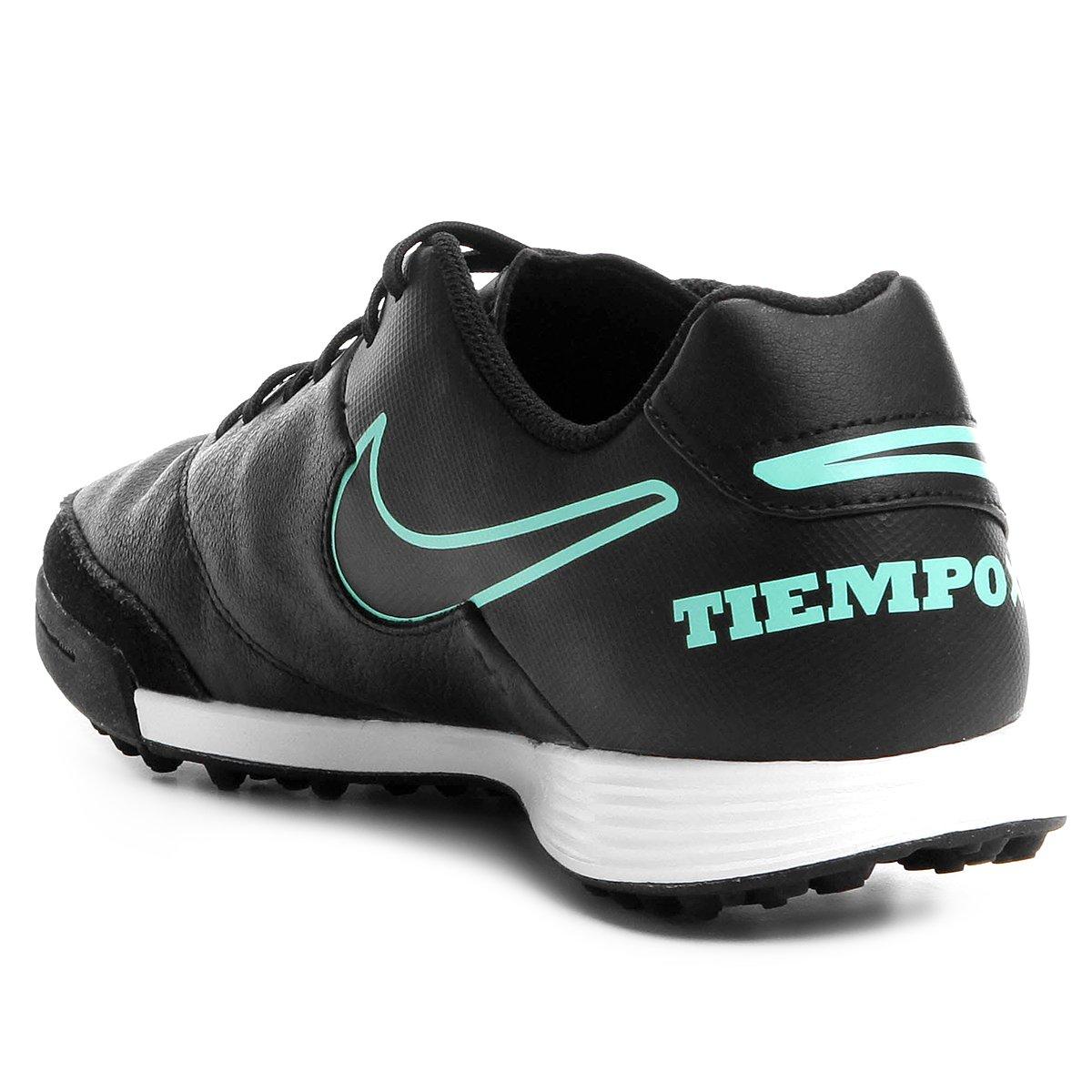 Chuteira Society Nike Tiempo Genio 2 Leather TF - Preto - Compre ... d4cd297585b2d