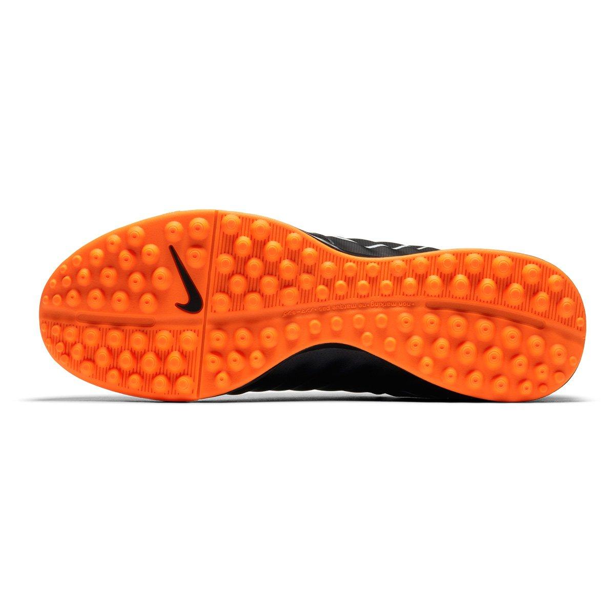 Chuteira Legend Nike Tiempo TF Academy e 7 Society Preto Masculina Laranja FrFwtqHB