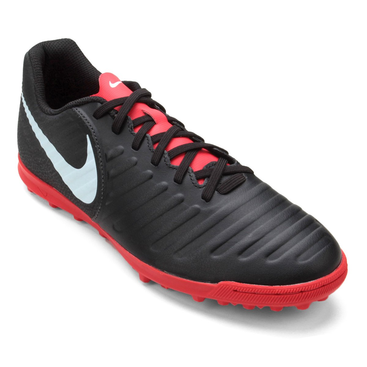 Chuteira Society Nike Tiempo Legend 7 Club TF - Preto - Compre Agora ... 463496f6ef358