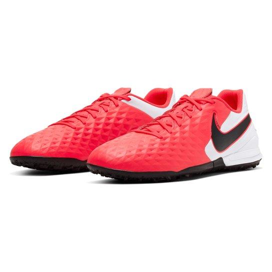 Chuteira Society Nike Tiempo Legend 8 Academy TF - Vermelho+Preto