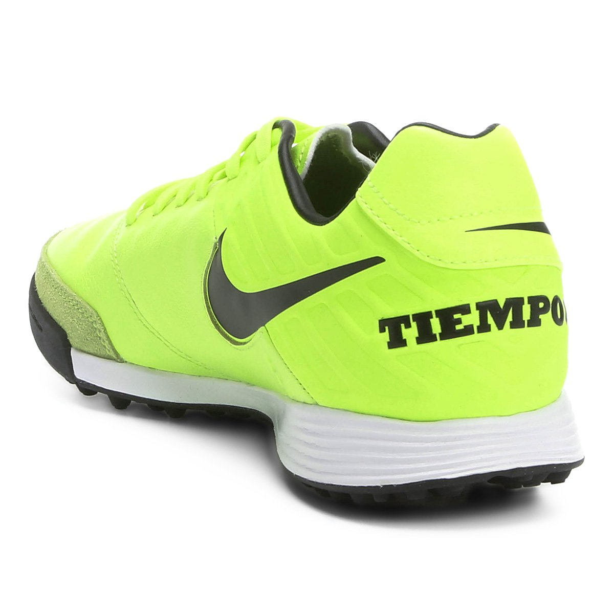 Chuteira Society Nike Tiempo Mystic 5 TF - Verde claro - Compre ... c4809f655056b