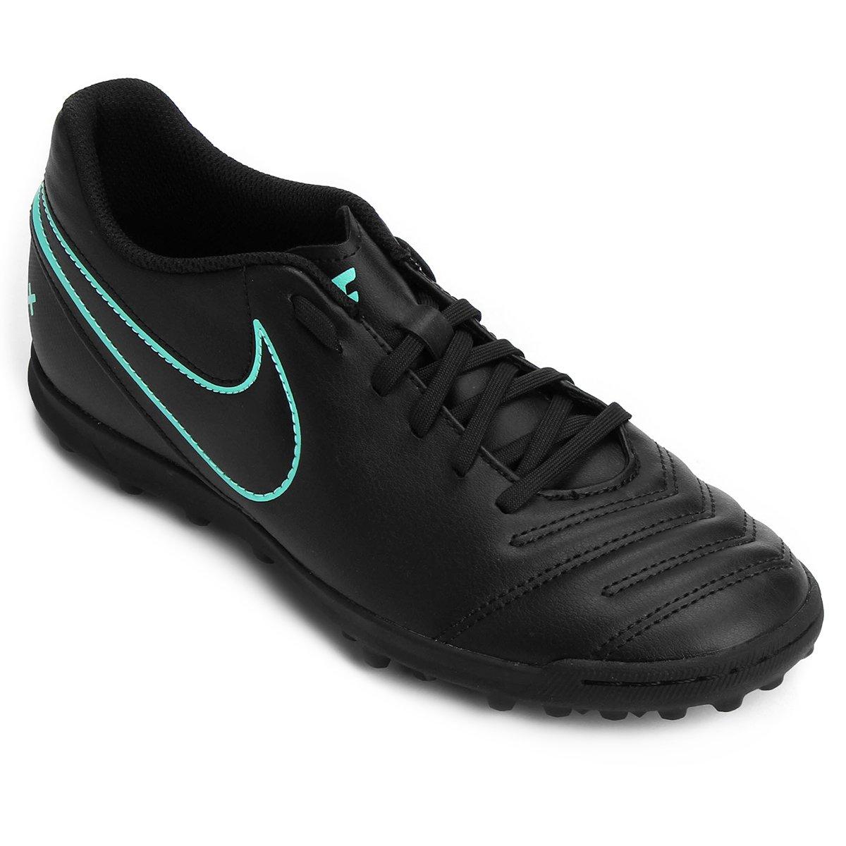 Chuteira Society Nike Tiempo Rio 3 TF - Preto