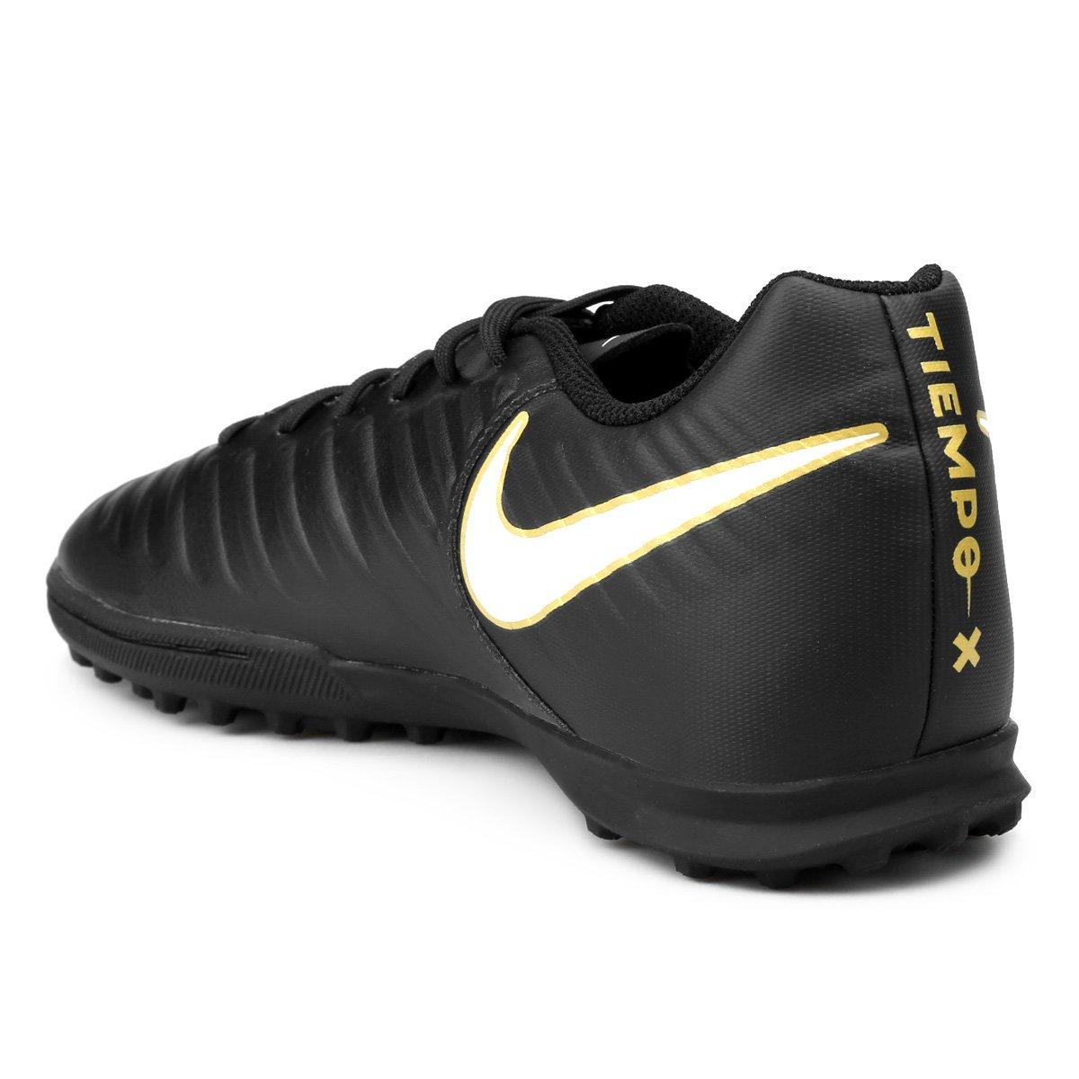 6850d7add8 Chuteira Society Nike Tiempo Rio 4 Tf Preto E Branco Compre