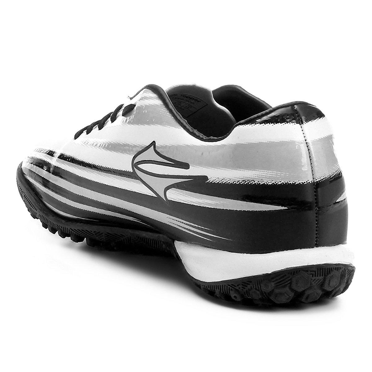 Chuteira Society Topper Vector 2 - Branco e Preto - Compre Agora ... 6868645390284