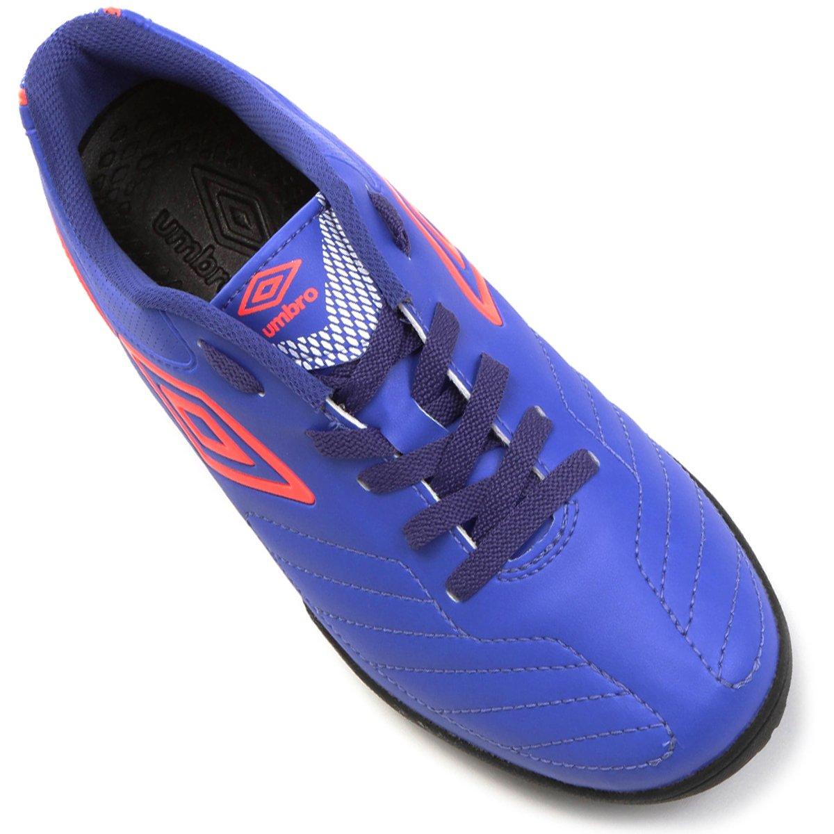 Chuteira Society Umbro Attak 2 - Azul e Branco - Compre Agora  08c83971aa493
