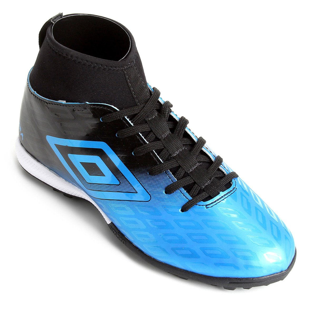 3903e5b2b4036 Chuteira Society Umbro Calibra - Azul e Preto | Netshoes