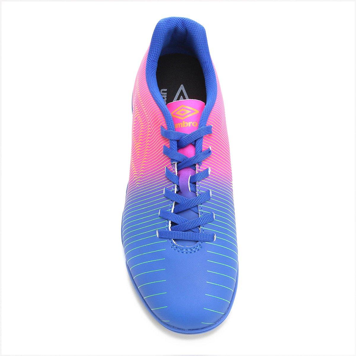 Chuteira Society Umbro Vibe Masculina - Azul e Rosa - Compre Agora ... c54e3c44b88d1