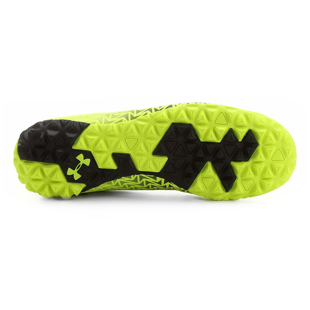 Chuteira Society Under Armour CF Force 3.0 TF - Amarelo Fluorescente ... 61bfee394bc86