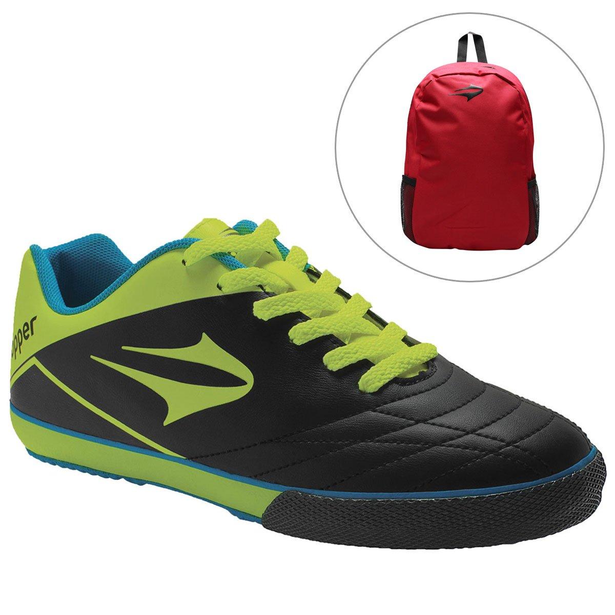 Chuteira Topper Frontier 7 Futsal + Mochila Topper Extreme - Compre Agora  10ebaca468720