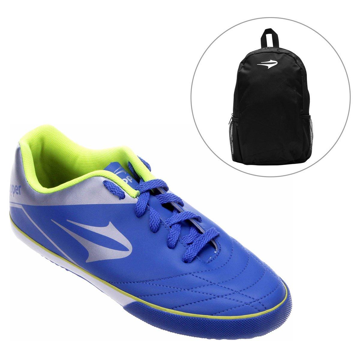 Chuteira Topper Frontier 7 Futsal + Mochila Topper Extreme - Compre Agora  40b6f32c42ee7