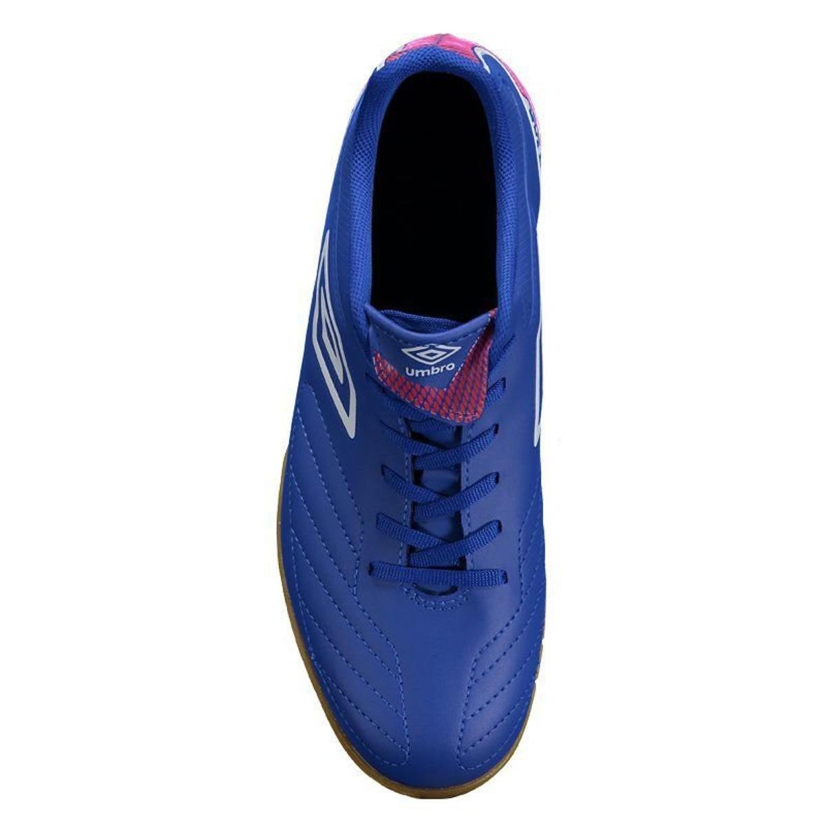 Chuteira Umbro Attak II Futsal - Azul e Branco - Compre Agora  080b08ac56dba