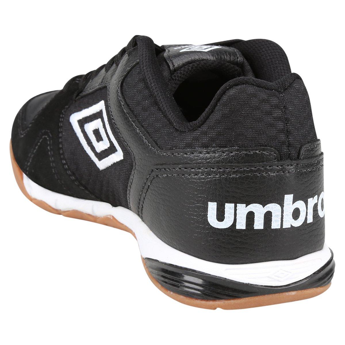 Chuteira Umbro Pro 3 Futsal - Preto e Branco - Compre Agora  26765af514901