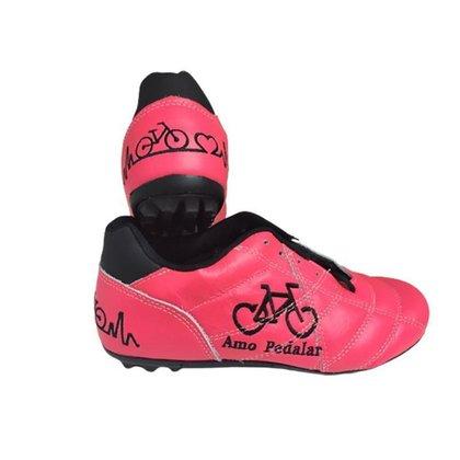 Chuteiras Couro Bike Ciclismo Personalizada