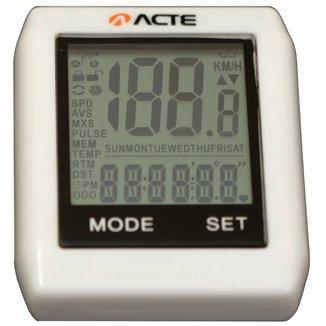 Ciclocomputador Acte Sports - 16 Funções s/ Fio
