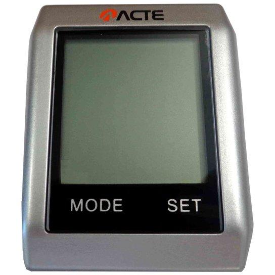 Ciclocomputador Acte Sports - 16 Funções s/ Fio - Prata