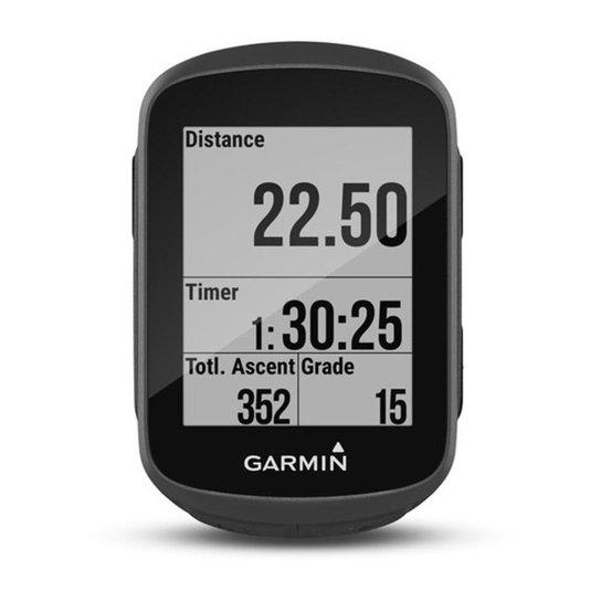 Ciclocomputador c/ GPS Garmin Edge 130 Compacto e c/  Reconhecimento de Ciclismo - Preto