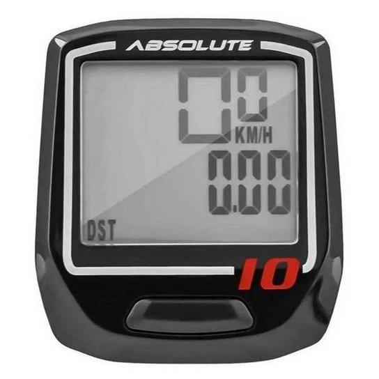 Ciclocomputador Velocímetro Bike Irix 10 Funções Absolute - Preto