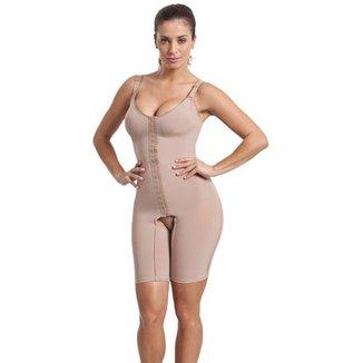 Cinta Body Modelador Compressão Macaquinho Com Perna Esbelt Feminino