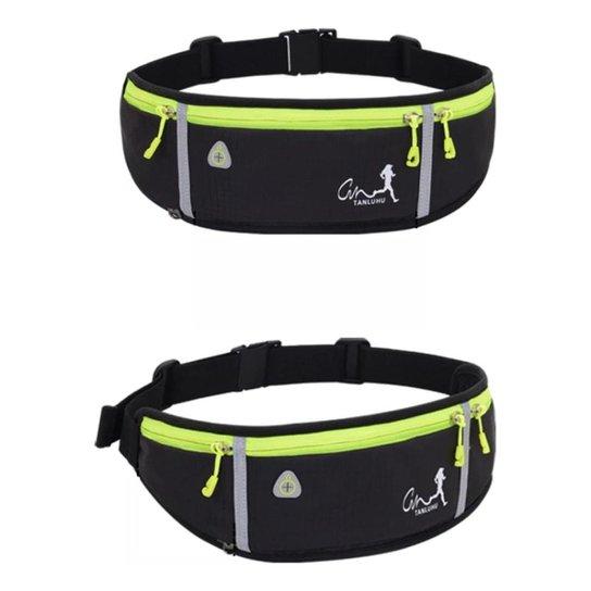 Cinto Pochete Hidratação Ajustável Porta Objetos - Tanluhu - Preto+verde