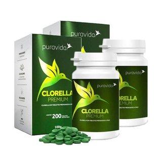 Clorella Premium 2 unidades de 200 Tabletes Puravida