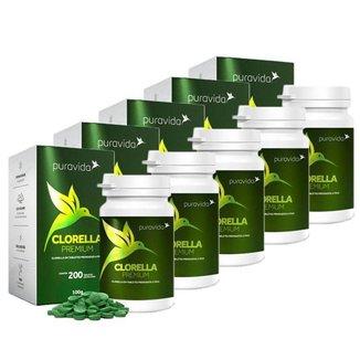 Clorella Premium 5 unidades de 200 Tabletes Puravida