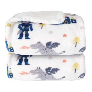 Cobertor Bebê Dupla Face Sherpa Cavalheiro Branco