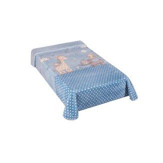 Cobertor Colibri Le Petit Zoo Azul