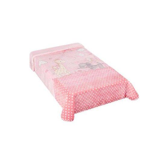 Cobertor Colibri Le Petit Zoo Rosa - Rosa