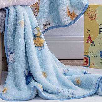 Cobertor Infantil Menino Carneirinhos Jolitex