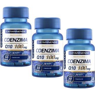 Coenzima Q10 100mg 3x 30 cápsulas Catarinense