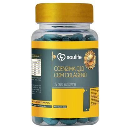 Coenzima Q10 com Colágeno 500mg - 120 Cáps - Soulife