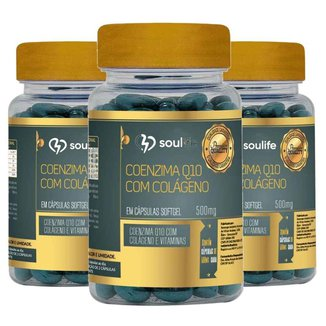 Coenzima Q10 com Colágeno - 60 cápsulas - Combo 3 unidades