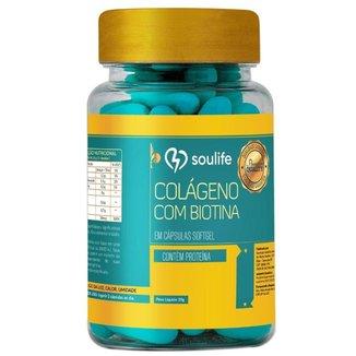 Colágeno com Biotina 900mg - 90 Cáps - Soulife