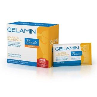 Colágeno Gelamin Beauté cartucho com 30 saches de 10g cada