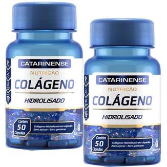 Colágeno Hidrolisado 2x com 50 cápsulas Catarinense Pharma