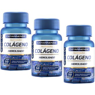 Colágeno Hidrolisado 3x com 50 cápsulas Catarinense Pharma