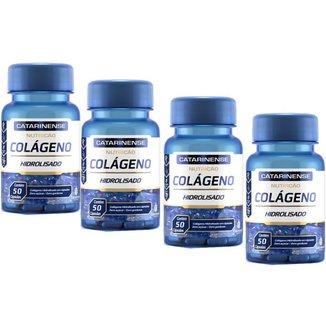 Colágeno Hidrolisado 4x com 50 cápsulas Catarinense Pharma