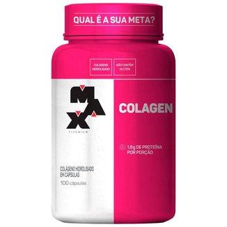 Colágeno Hidrolisado 500mg com 100 cápsulas Max Titanium