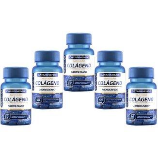 Colágeno Hidrolisado 5x com 50 cápsulas Catarinense Pharma