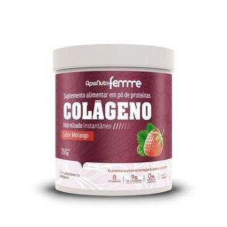 Colágeno Hidrolisado Beauty Complex Apisnutri 200g Morango