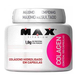 Colágeno Hidrolisado Colagen 100 Caps - Max Titanium