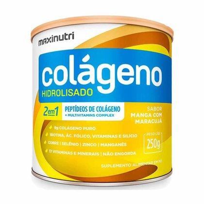 Colágeno Hidrolisado Manga/Maracujá Lata 250g Maxinutri