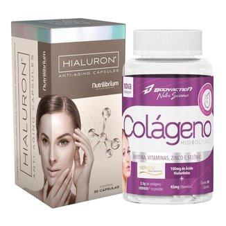 Colágeno Hidrolisado Premium 90 Caps + Ácido Hialurônico