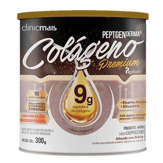 Colágeno Hidrolisado Premium 9g Clinic Mais 300g Cappuccino