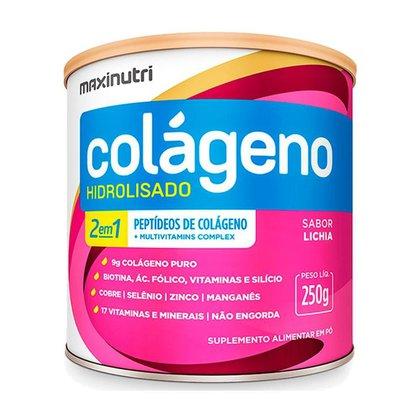 Colágeno Hidrolisado Sabor Lichia Lata 250g Maxinutri