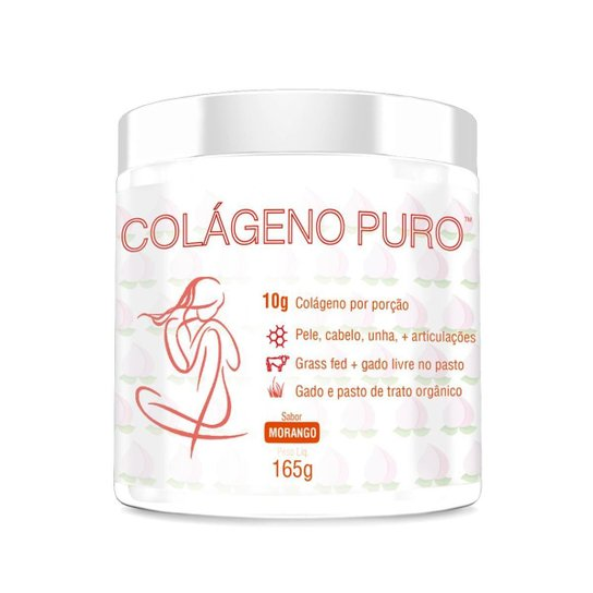 COLÁGENO PURO MORANGO 160G -